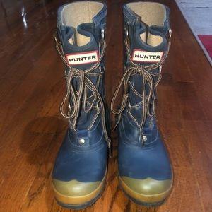 Hunter Sascha Lace Up Boots